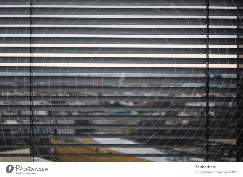 View through slats of a blind at Philharmonie, Berlin Looking View from a window Venetian blinds Closed Roller blind Capital city Berlin Philharmonic Quarantine