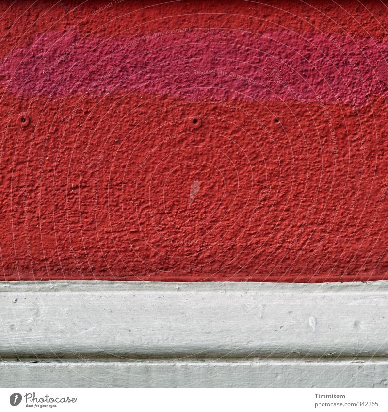 White Red House (Residential Structure) Wall (building) Emotions Dye Wall (barrier) Stone Line Esthetic Simple Hollow Plaster Molding