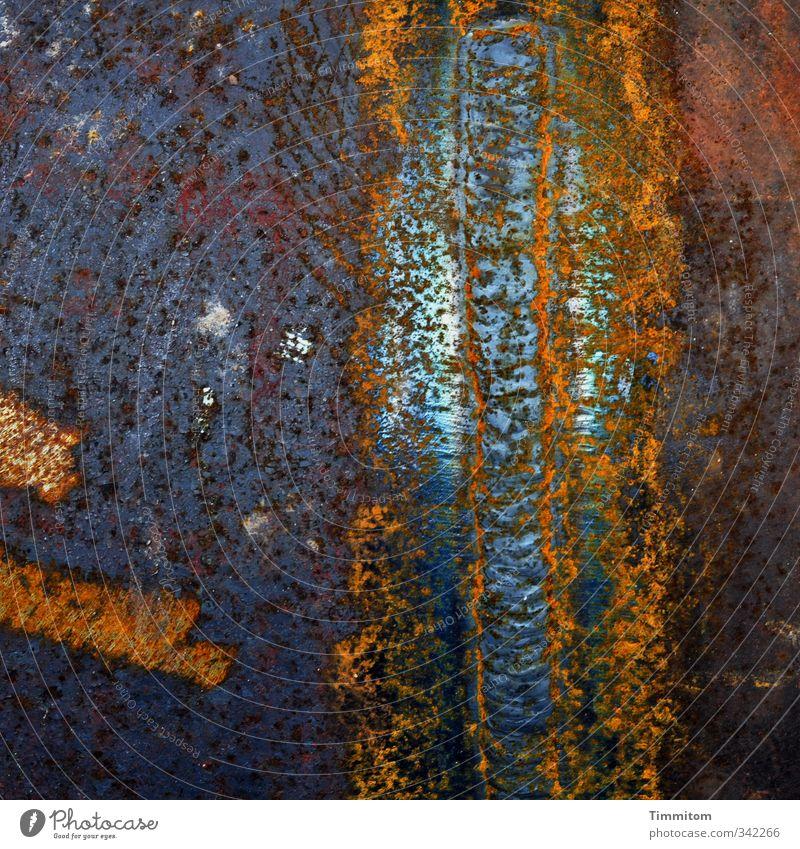 Appearance. Metal Illuminate Dark Glittering Blue Emotions Esthetic spirit Phenomenon dream Welding seam Line machining Processed Fantasy Colour photo Detail