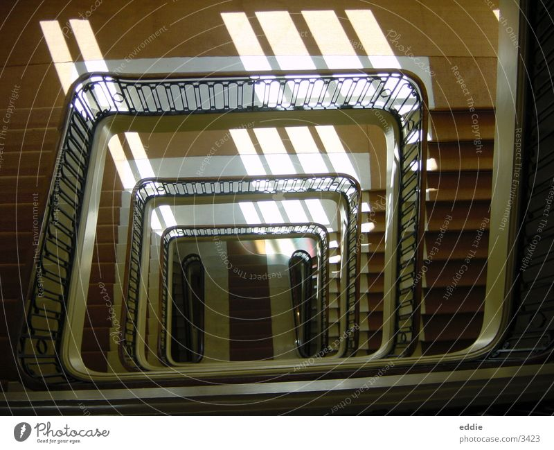 how many stairs must a page walk down? Architecture Stairs poor page