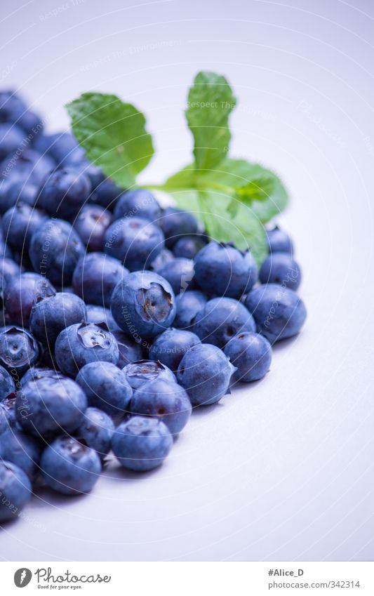 blueberries Food Fruit Dessert salubriously Nutrition Breakfast Diet Healthy Eating Blue Violet Colour photo Interior shot Close-up Copy Space top