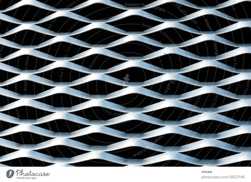Structure building facade Structures and shapes structure Facade cladding of facades Architecture Pattern Black Silver Metal Honeycomb pattern Waves Undulation