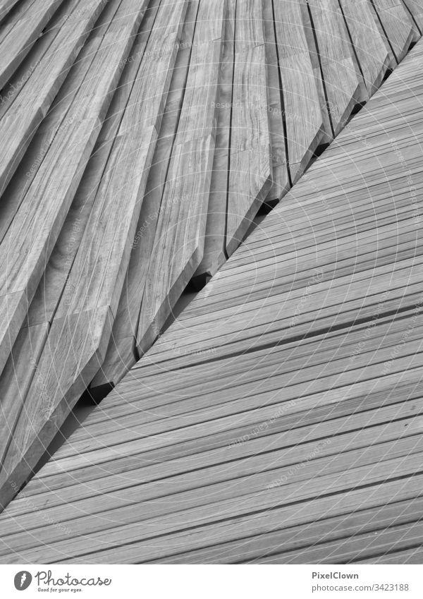 Gehweg und Treppe Holzboden treppe Kreativität muster Struktur Detail Structures and shapes