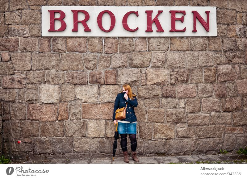 Brocken & Crumbs Feminine Young woman Youth (Young adults) Woman Adults 1 Human being 18 - 30 years skirk Wall (barrier) Wall (building) Tourist Attraction