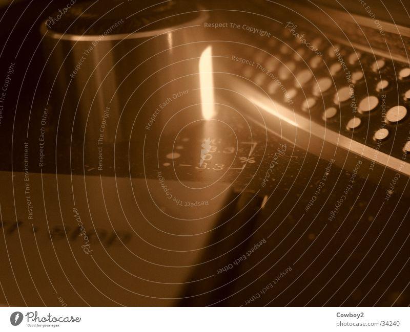 Technology Club Disco Disc jockey Sepia Turntable Record player