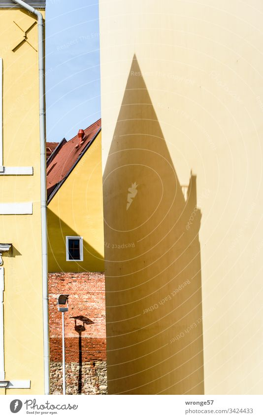 Magdeburg facades on Fürstenwall ,Building Facades pediment Colour photo Town Exterior shot Deserted Architecture Wall (barrier) Wall (building) Window