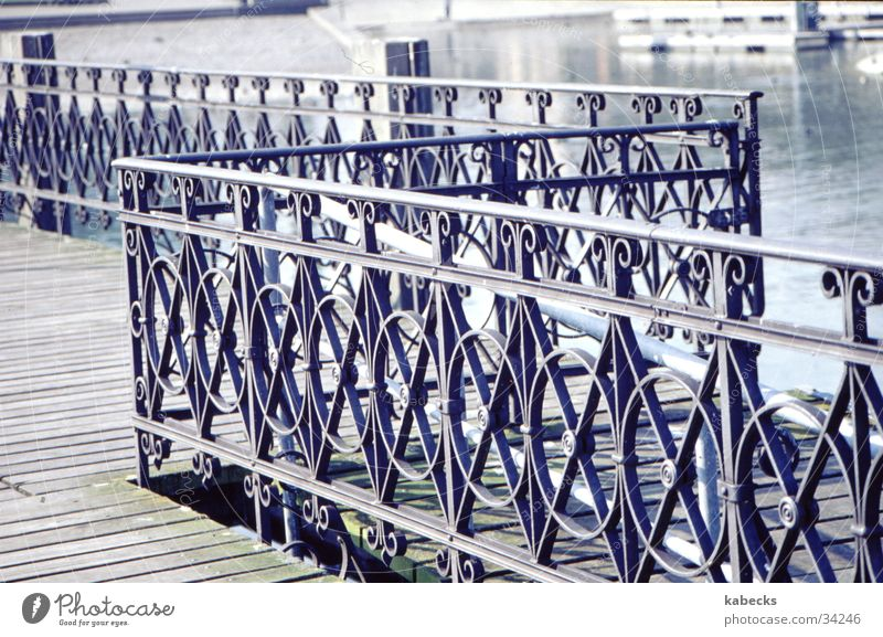 Decorative railing for bridges Footbridge Lake Adornment Steel Bridge Handrail Water Detail