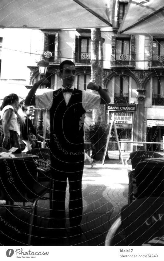 White Black Services Friendliness Barcelona Waiter Superman