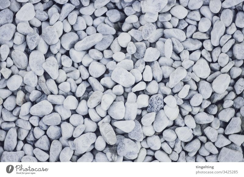 White pebbles From above Pebble Stone floor Pattern background wallpapers Wellness clean Rock garden Stone path structure from on high Copy Space stones