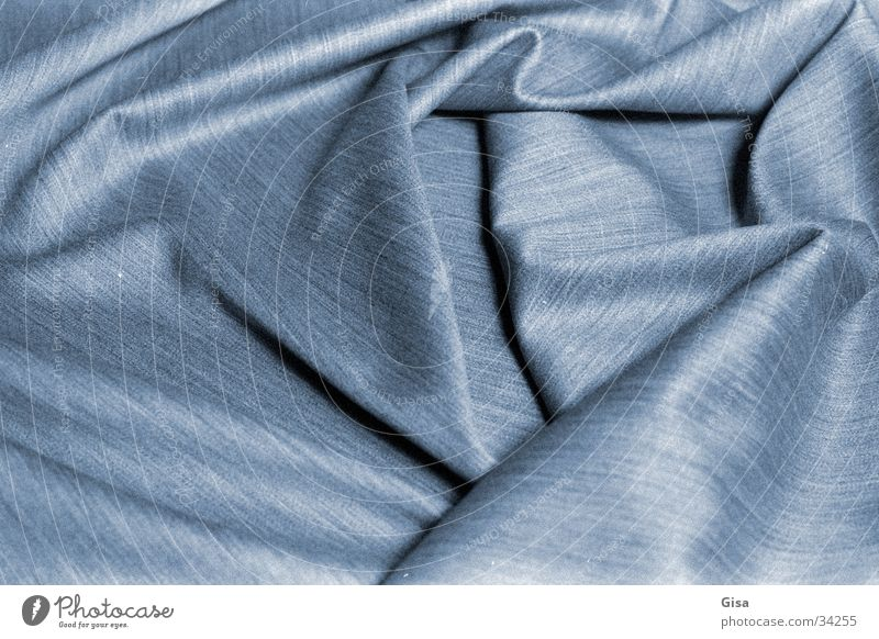 Blue Industry Soft Cloth Material Textiles Folds New wool