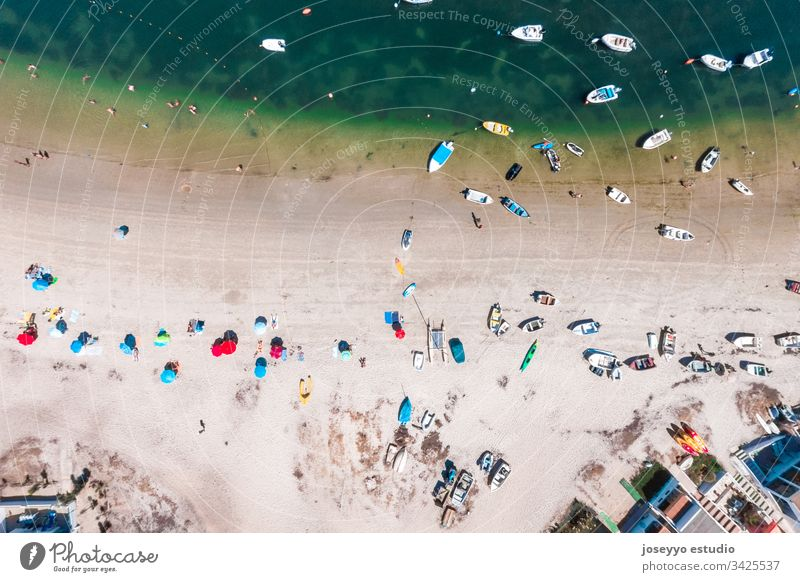 Aerial view of Armona Island, Ria Formosa, Algarve, Portugal. Trip aerial aerial view algarve armona atlantic bay beach beautiful blue boat coast coastline