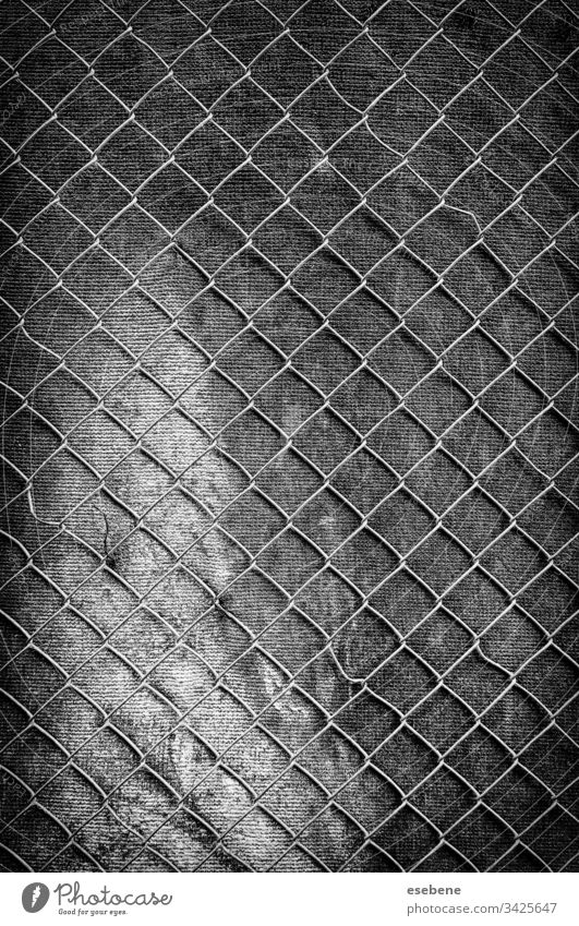 Metal grid on the wall Wall (building) Grating Steel Old Hole Iron Dark Black Gray Pattern background textured Retro Badge Industry Home Reflection aged Rough