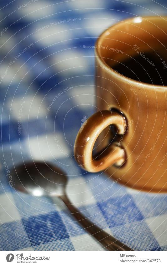 Blue Relaxation Time Brown Beverage Break Coffee Hot Tea Cup Checkered Milk Spoon Espresso Hot Chocolate Latte macchiato