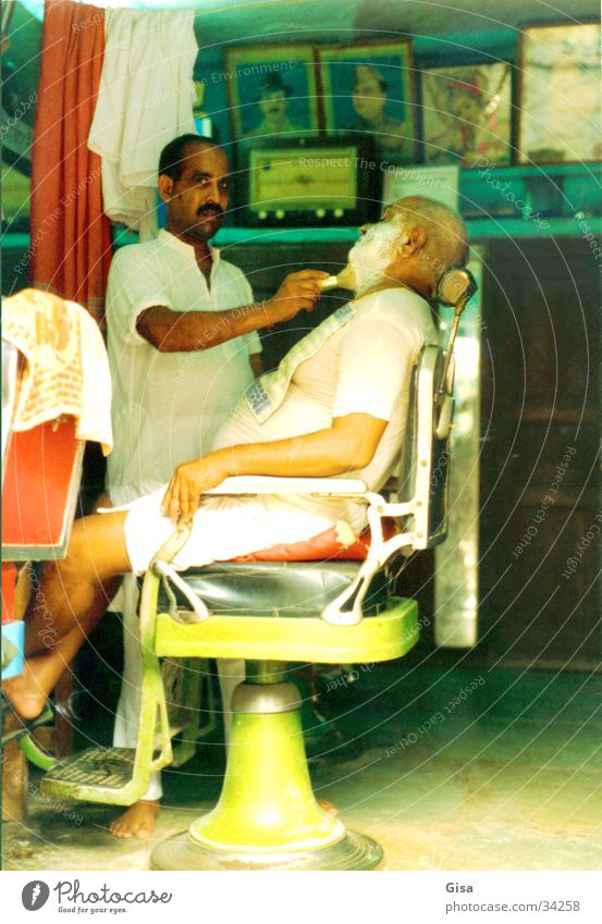 barber India Facial hair Nostalgia Multicoloured Man Services Hairdresser Chair To enjoy