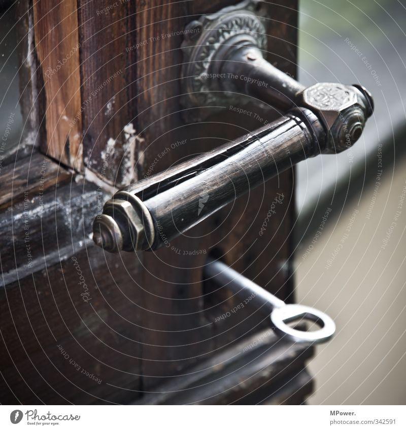 Old Wood Metal Open Glass Closed Retro Car door Lock Key Door handle Weathered