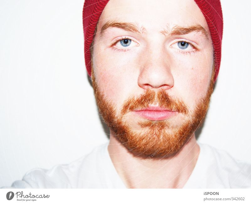 Barbarossa Human being Masculine Young man Youth (Young adults) Head Face Eyes Nose Mouth Lips Facial hair 1 18 - 30 years Adults Cap Red-haired Observe Think