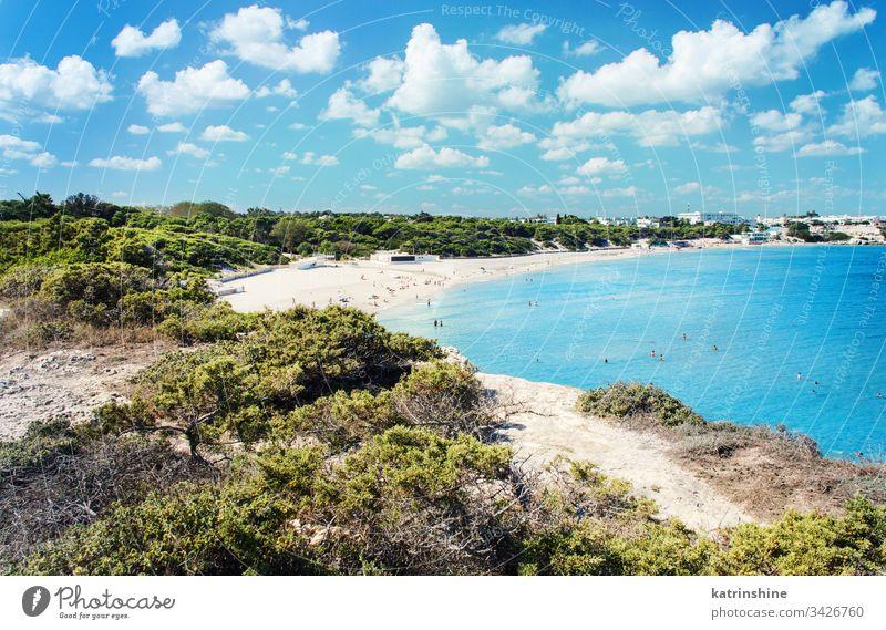 Torre dell'Orso shore in september beach coastline torre dell'orso adriatic sea apulia cristal water europe italy lecce province melendugno puglia salento