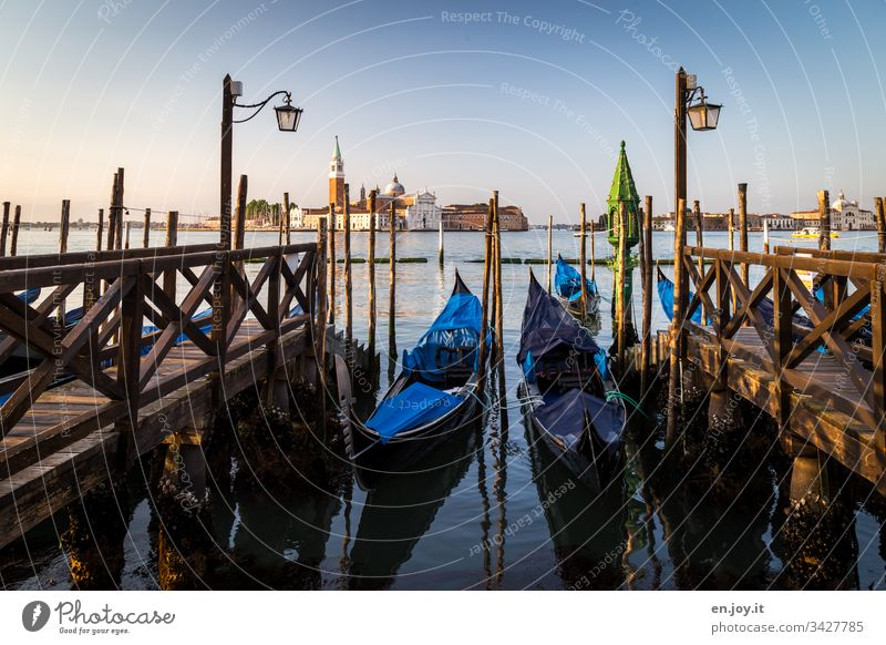 When the gondolas carry mourning Venice Italy Europe vacation holidays voyage Tourism Veneto lanterns in the morning Vacation & Travel Colour photo