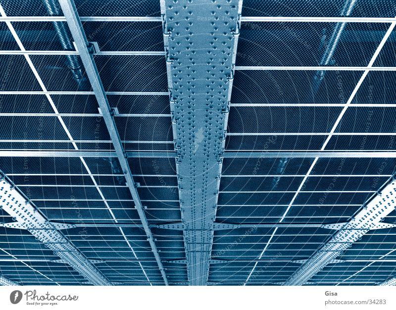 Line Metal Bridge Construction Iron Grid Skeleton Rivet
