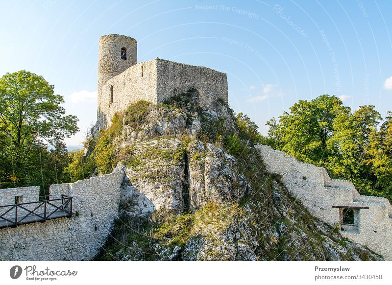 Ruins of castle from XIV century in Smolen (Poland) ruins smolen poland travel tourism medieval old historical landmark outdoor front facade architecture