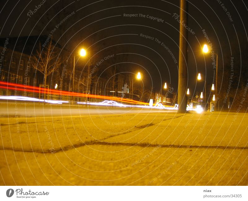 cell Light Stripe Pothole Night Red Transport car rear lights