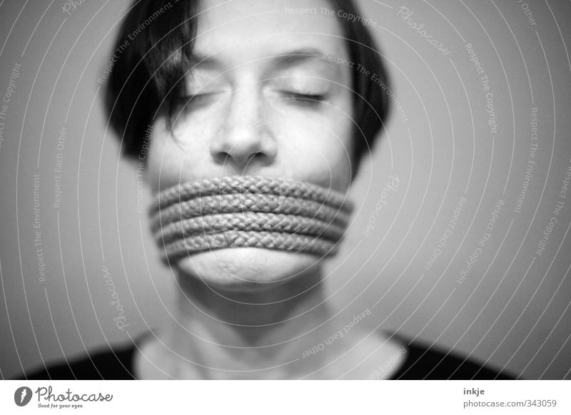 Human being Woman Adults Face Life Emotions Communicate Rope Anger Whimsical Testing & Control Bans Frustration Senses Rebellious Coil