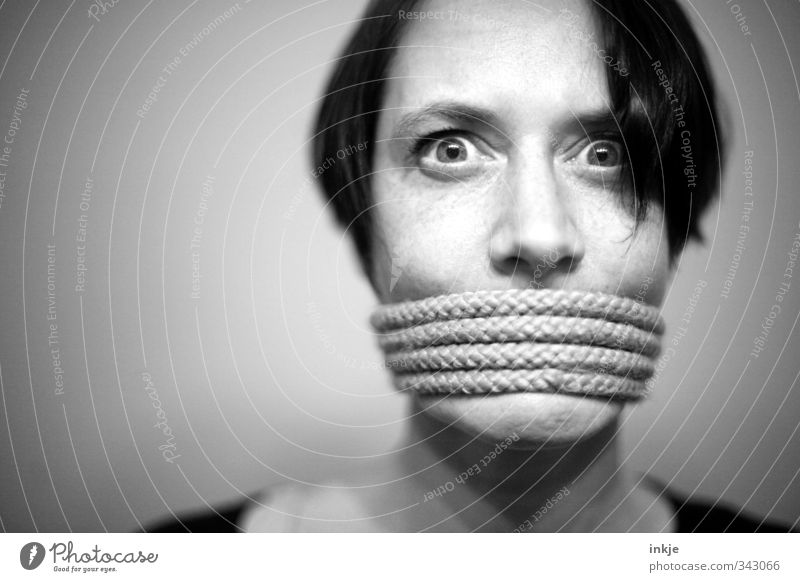 Troubadix (that wouldn't have been necessary!!) To talk Woman Adults Life Face Face of a woman Women's eyes 1 Human being 30 - 45 years Rope Looking Wild