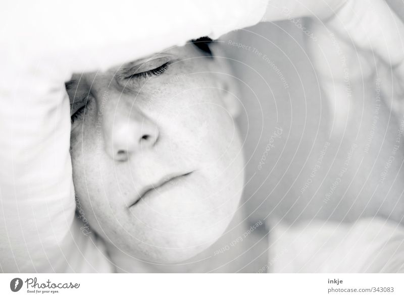 Human being Woman Relaxation Calm Face Adults Life Sadness Emotions Bright Moody Dream Arm Sleep Break Near