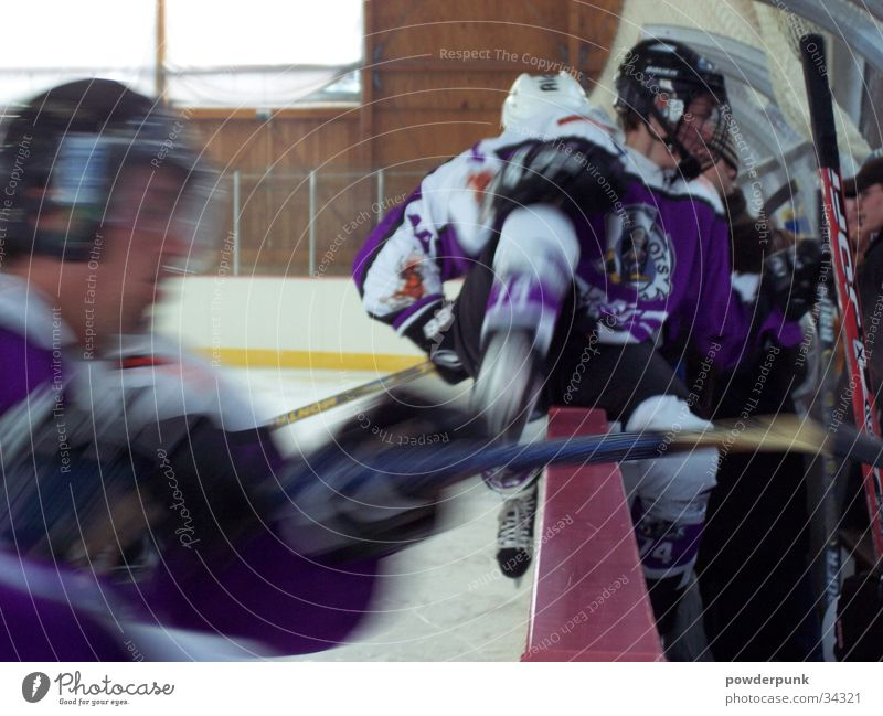 change the line! Ice hockey Express train Field hockey Sports team Helmet Exchange Jump Ice stadium Winter sports Gate puck Fight substitution