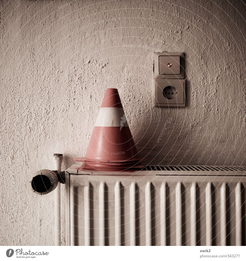 filing Technology Light switch Socket Traffic cone Heater Wall (barrier) Wall (building) Rough Plaster Metal Plastic Illuminate Sharp-edged Simple Round Point