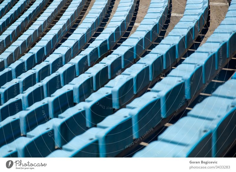 Stadium seats stadium empty sport background blue nobody outdoors arena row public plastic seating amphitheater architecture game line section perspectives