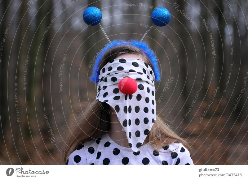 corona thougths | highly contagious! | girls dressed as a crazy virus Young woman Youth (Young adults) Virus pandemic prevention Fear gap Safety Insecure