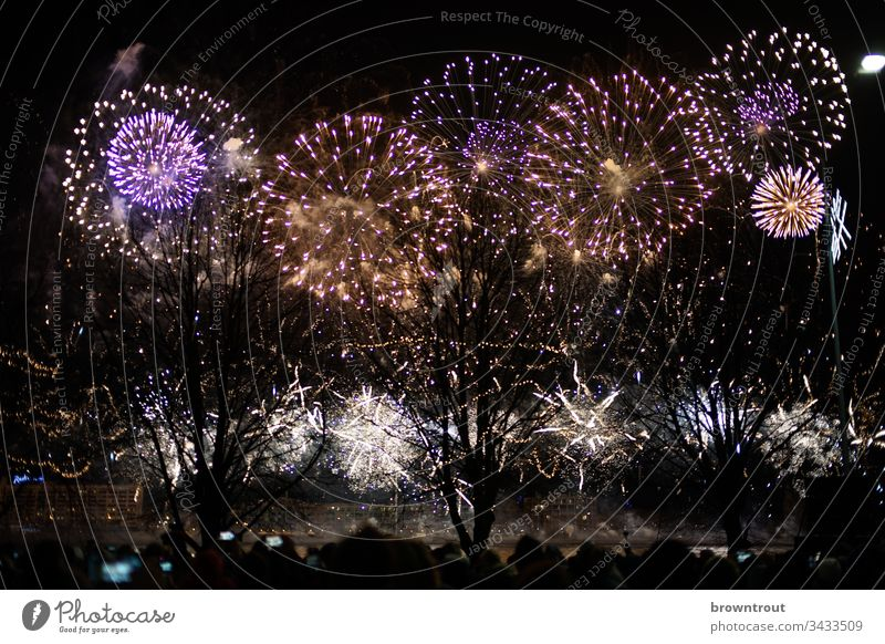 New Year's Eve fireworks in Riga Firecracker Night Feasts & Celebrations Bang Party Pyrotechnics Night sky