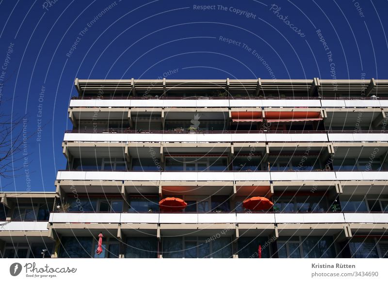 balconies of an apartment building House (Residential Structure) Building Balcony Balconies Facade Architecture real estate at home dwell Life rent