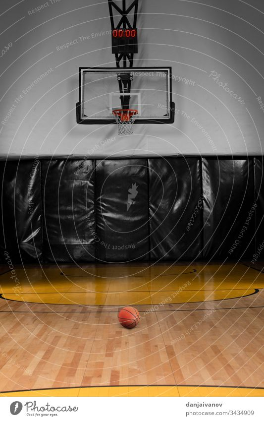 Basketball court and basketball hoop activity Arena background Ball Bright Master Championship Competition tribunal Cup Empty Field game Goal Ground Lamp