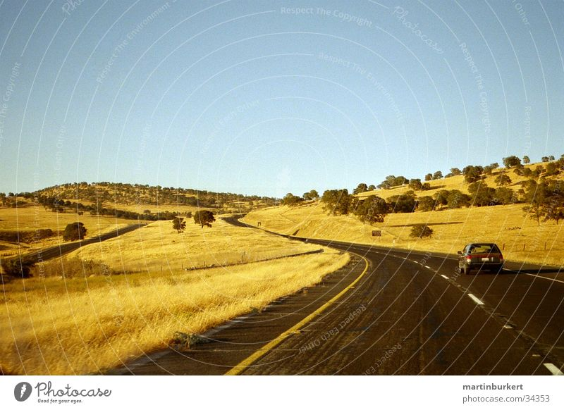 California Highway Steppe Transport Curve Car
