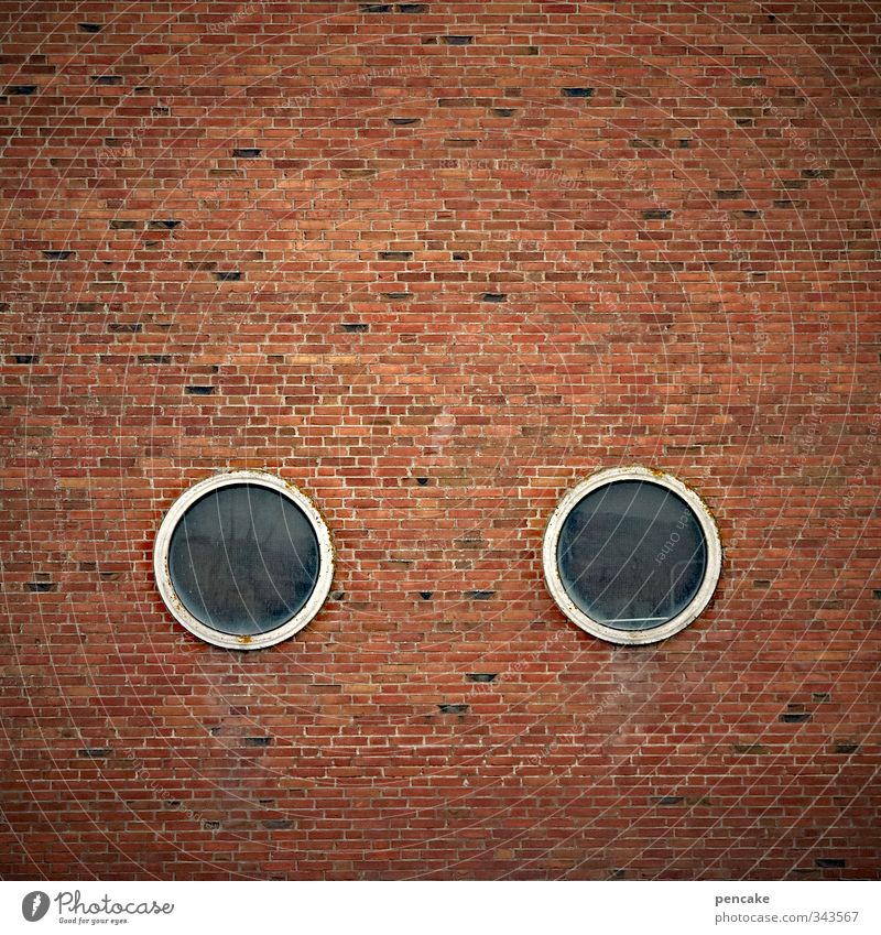 Rømø   eyewitness Port City House (Residential Structure) Harbour Facade Window Stone Brick Sign Cool (slang) Simple Friendliness Funny Red Porthole Looking