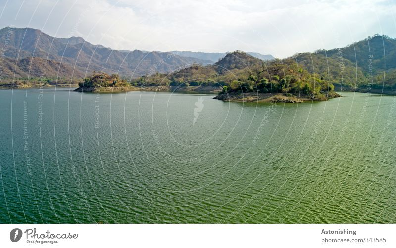 Ranakpur Dam Environment Nature Landscape Plant Earth Air Water Sky Clouds Horizon Spring Weather Tree Bushes Wild plant Forest Virgin forest Hill Mountain