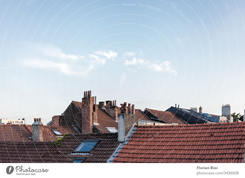 View of the roofs of Brussels in Belgium Capital city Building Window downtown Central Downtown Manmade structures House (Residential Structure) Architecture