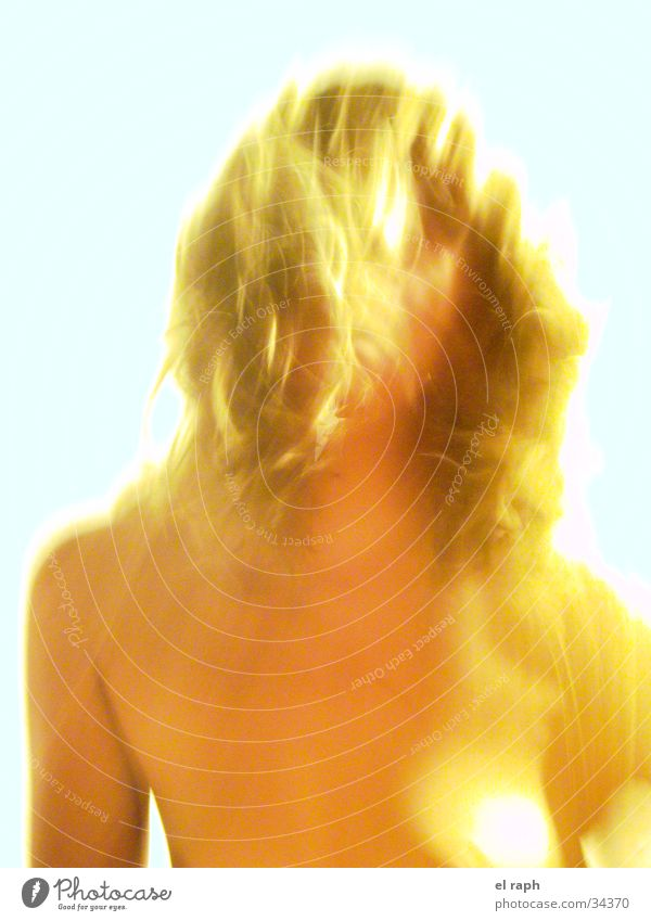 Angel Act Bright Long exposure Woman Sky Gold Ghosts & Spectres