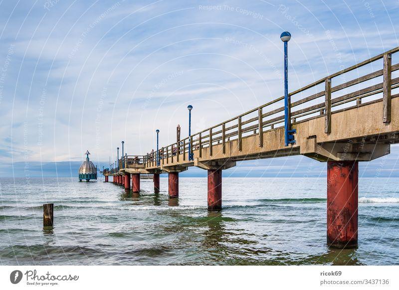 Seabridge at the Baltic Sea coast in Zingst Sea bridge Coast fischland-darß Baltic coast Ocean Beach Architecture Manmade structures Tourist Attraction Lantern