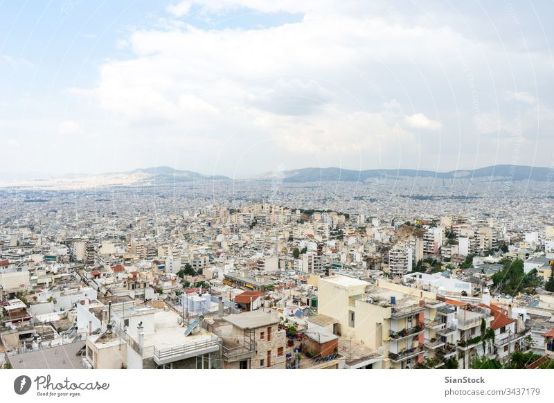 Panoramic view of Athens, Greece athens city greece urban travel architecture europe landscape building panoramic tourism culture history town capital greek