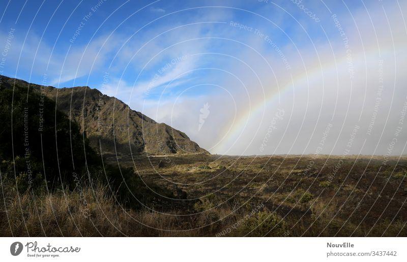 On the road in Hawaii road trip USA Land Feature Mountain Rainbow Maui Kilauea Hiking Nature