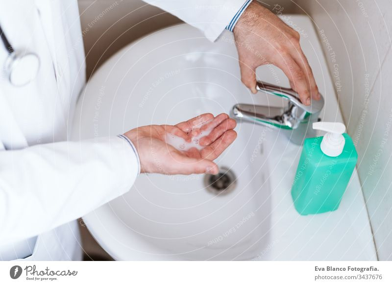 doctor man washing hands with disinfectant soap. Hygiene and Corona virus Covid-19 concept corona virus covid-19 clean medical physician hygiene professional