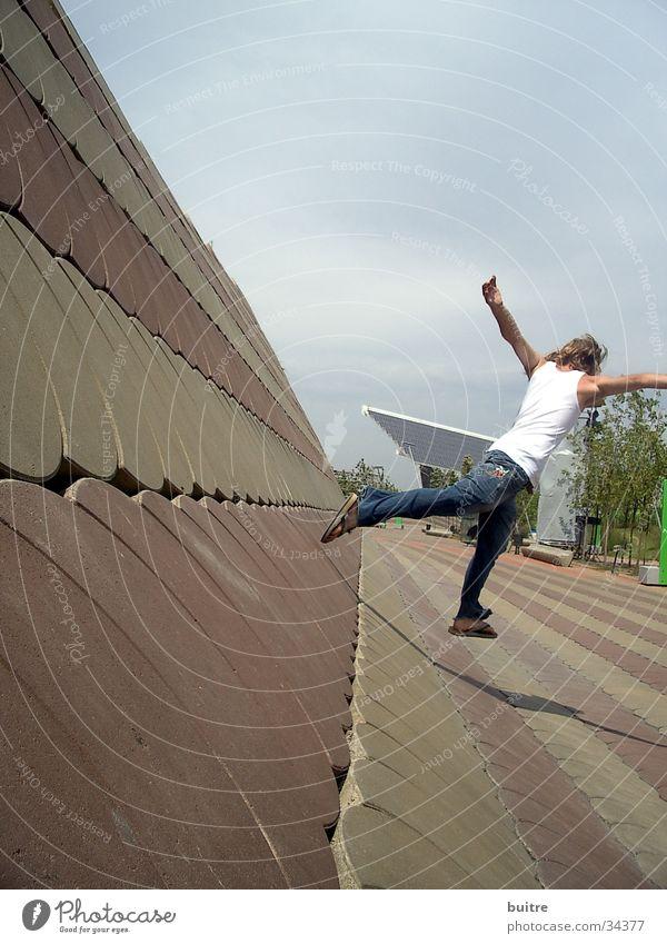 Man Movement Flying Jump Walking Speed Barcelona Hongkong Asia China Spain Forum