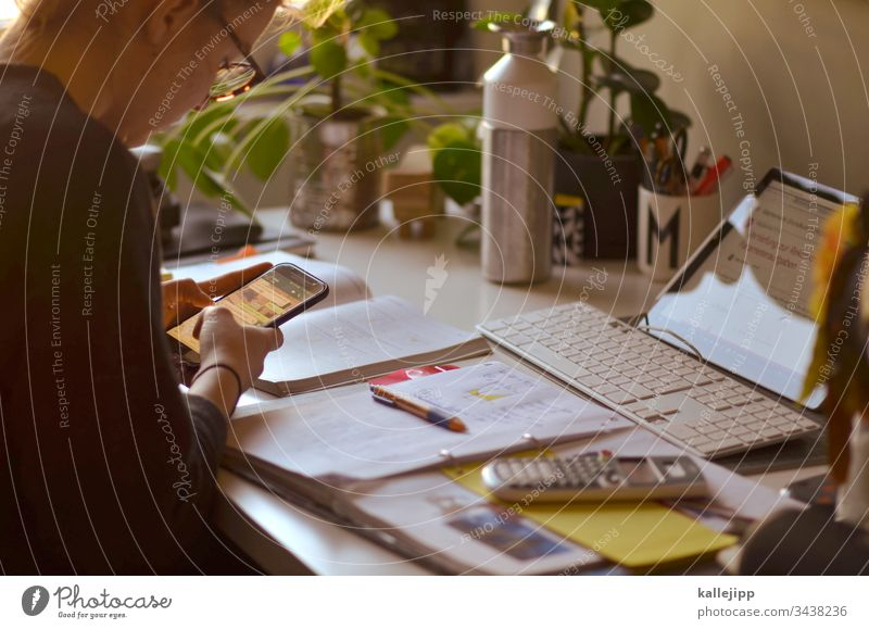 homeschooling Homeschooling School home office Office Interior shot Colour photo Workplace Office work Work and employment Education Career Internship