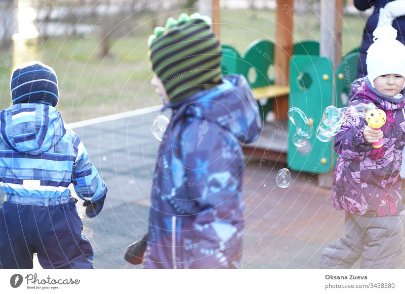 Coronavirus outbreak, children  blow bubbles air asian baby background caucasian cheerful childhood chinese corona virus coronavirus covid-19 disease epidemic
