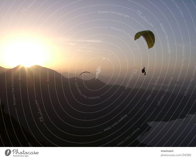 Mountain Peak Paragliding Parachute