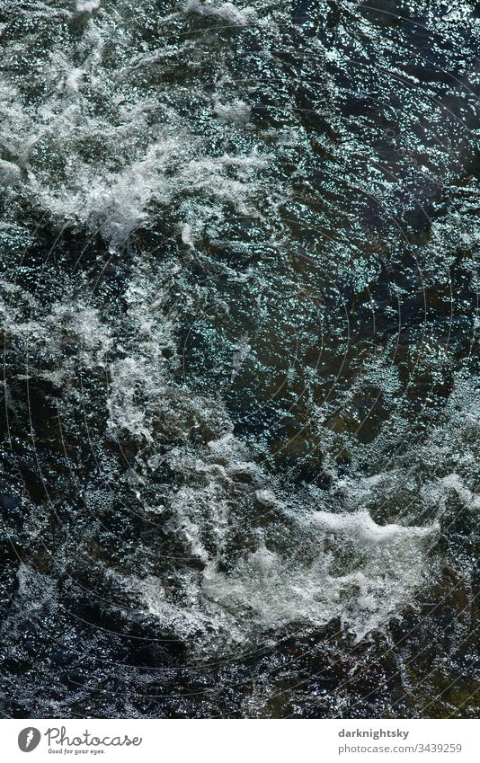 Current Fast in a wild river mountain River Rapids Force Water White crest hydropower Nature sustainable Energy renewable Exterior shot Day Environment Elements
