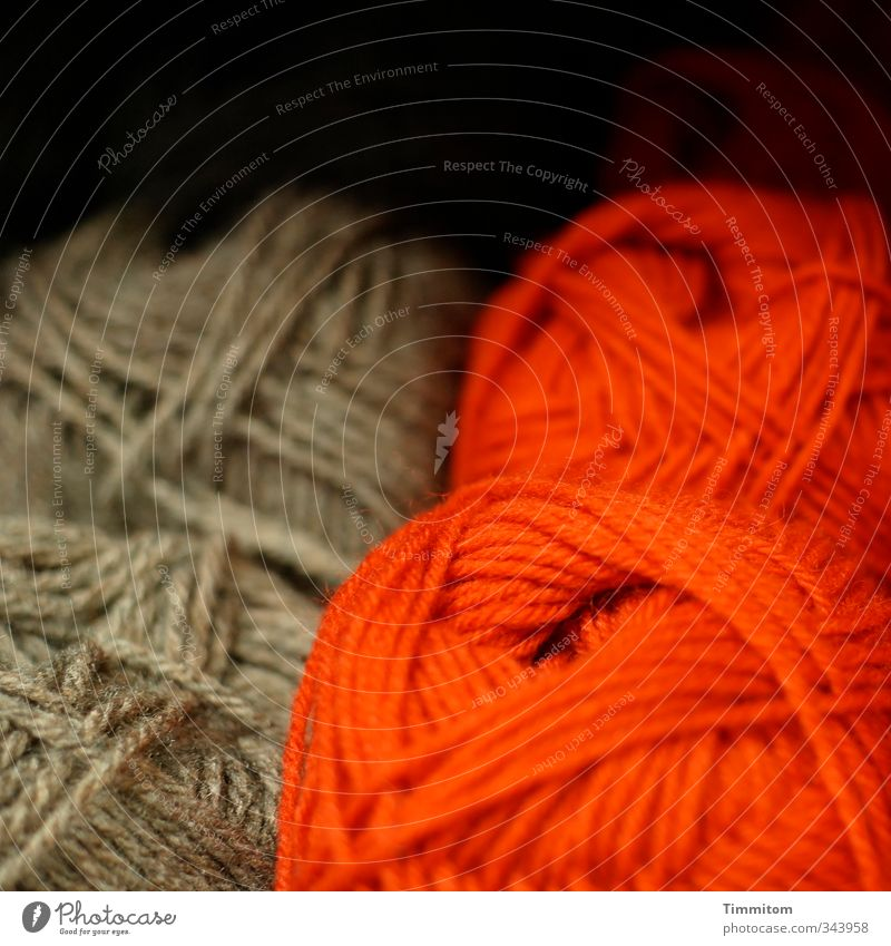 Red Dark Emotions Lie Brown Esthetic Simple Wool Shop window Ball of wool